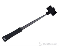 Selfie Stick w/Power Bank & LED for Smartphones Monopod S160 2600mAh w/Bluetooth Black