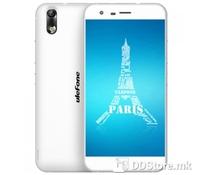"Ulefone Paris, 4G Smartphone White, 5"" IPS screen(1280*720px), Dual SIM, Micro SD, 3G: WCDMA 900/2100MHz, 4G: FDD-LTE 800/1800/2100/2600MHz, CPU MTK6753 Octa core 64bits, 1.3GHz, 2GB RAM, 16GB  ROM, Dual camera Front:2.0MP&Back:13MP with flashlight,"