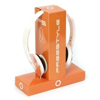 Headphones Omega Freestyle Hoop For iPhone Orange w/Microphone