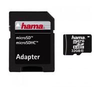 Hama 00108089 microSDHC 32GB Class 10 + Adapter, Data Transfer Rate: 22 MB/s