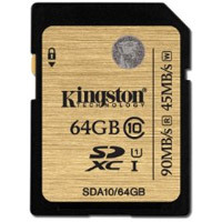 64GB SDXC Class 10 UHS-I 90MB/s read 45MB/s write Flash Card