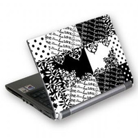 NOTEBOOK SKIN A4 GSBW-15Q BLACK&WHITE