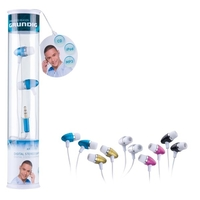 Grundig Earphones Stereo 5assorted colors on display stand model 76594