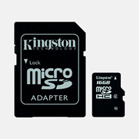 Kingston 16GB microSDHC Class 4 w/SD Adapter