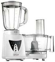 Sinbo SHB-3058 Multi praktik robot - Food processor, Blender (1.5l), Grinder (0,245l), Low noise, 5 speeds and pulse control, 800W