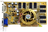 ®GeForceFX 5200 AGP8X (250/400MHz) / 128MB DDR (128Bits) + DVI + TV out