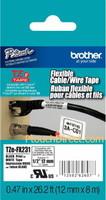 TZЕFX231 12mm BLACK  ON WHITE FLEXIBLE ID
