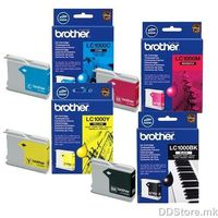 Brother Value Pack LC1000VALBP (BK/C/M/Y) Site Kertridzi