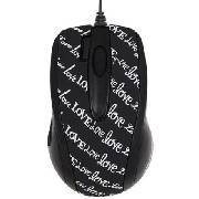 A4Tech Black & White - Love Letters - G-Laser Mouse A4-GLBW-73LL