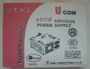 Ucom UC450W ATX Power Supply 24PINS/SATA