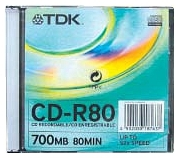 TDK CD-R80 SLIM CASE 52X