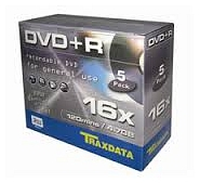 TRAXDATA DVD+R 4.7GB 16X 5 PACK JC