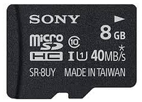 SONY SR8UYA MICRO 8GB SD CARD W ADAPTER