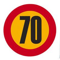 Налепница - 70 km/h - голема