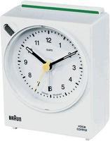 QUARZ-часовник со гласовна контрола, бел