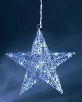 Акрилна светилка во форма на ѕвезда со 24 бели лед сијалички