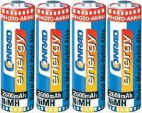 4 делен сет, CONRAD ENERGY батерии, тип AA