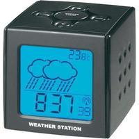 Радиобудилник со временски прогнозер BLACK CUBE