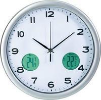 Ѕиден часовник внатрешен и надворешен термометар